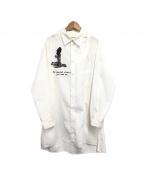 YohjiYamamoto pour homme(ヨウジヤマモトプールオム)の古着「WE NEEDED左胸あきプリントシャツ」 ホワイト