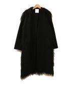 CLANE(クラネ)の古着「BACK FUR COAT」|ブラック