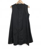 syte(サイト)の古着「ノースリーブロングシャツ」|ブラック