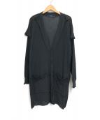 LIMI feu(リミフゥ)の古着「コットンデザインカーディガン」|ブラック