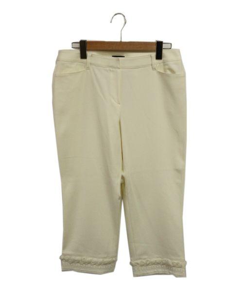 TO BE CHIC(トゥービーチック)TO BE CHIC (トゥービーチック) クロップドパンツ ホワイト サイズ:46の古着・服飾アイテム