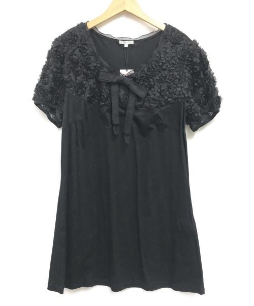 TO BE CHIC(トゥービーチック)TO BE CHIC (トゥービーシック) 3Dカットソー ブラック サイズ:SIZE5 未使用品の古着・服飾アイテム