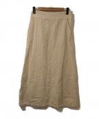 GALLARDA GALANTE(ガリャルダガランテ)の古着「ワイドコールAラインスカート」 ホワイト