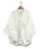 ()の古着「ガーメントダイポプリンシャツ」|ホワイト