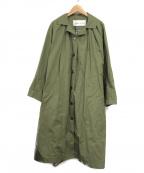 latelier du savon(アトリエドゥサボン)の古着「ステンカラーコート」|グリーン