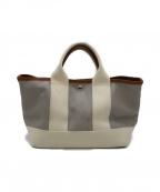 TOPKAPI(トプカピ)の古着「スコッチグレインネオレザーミニトートバッグ」|グレー