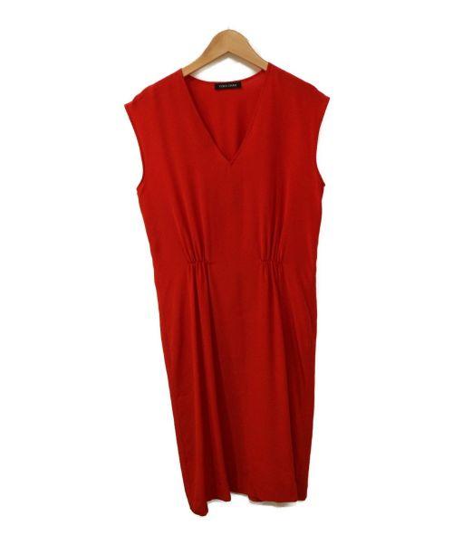 YOKO CHAN(ヨーコチャン)YOKO CHAN (ヨーコチャン) シルクブラウスワンピース レッド サイズ:38の古着・服飾アイテム