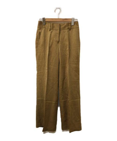 INCOTEX(インコテックス)INCOTEX (インコテックス) サテンワイドパンツ ベージュ サイズ:38の古着・服飾アイテム