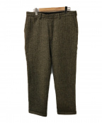 MONITALY(モニタリー)の古着「ストライプウールパンツ」|グレー