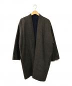 SOFIE DHOORE(ソフィードール)の古着「リバーシブルコート」|ネイビー×グレー