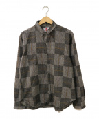 son of the cheese((サノバチーズ))の古着「Arm Knit Shirt」|グレー