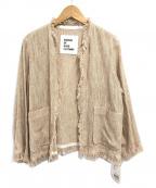 GARAGE OF GOOD CLOTHING(ガレージオブグッドクロージング)の古着「着流しサマーツイードジャケット」|ベージュ