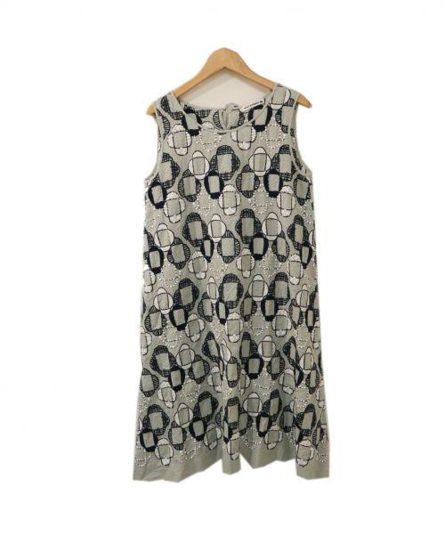 mina perhonen(ミナ ペルホネン)mina perhonen (ミナ ペルホネン) ワンピース グリーン サイズ:36の古着・服飾アイテム