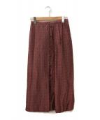 JOURNAL STANDARD(ジャーナルスタンダード)の古着「キュプラジャガードオリエンタルスカート」|レッド