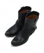 SARTORE(サルトル)の古着「ベルトショートブーツ」|ブラック