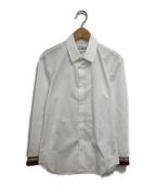 Maison Margiela()の古着「カフス切替シャツ」 ホワイト×レッド