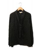 ()の古着「シルクボウタイブラウス」|ブラック
