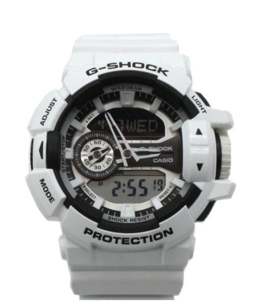 CASIO(カシオ)CASIO (カシオ) 腕時計 ホワイト G-SHOCK GA-400-7AJF ラバーの古着・服飾アイテム