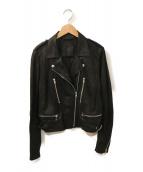 RAW+(ロゥタス)の古着「ライダースジャケット」|ブラック
