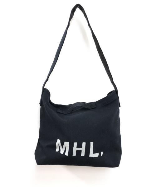 MHL(エムエイチエル)MHL (エムエイチエル) 2WAY LOGO BAG ブラックの古着・服飾アイテム
