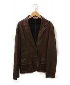()の古着「レザーテーラードジャケット」|ブラウン
