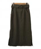 foufou(フーフー)の古着「ロングペンシルスカート」 グレー