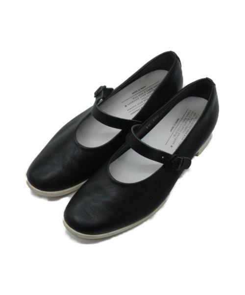 chausser(ショセ)chausser (ショセ) ワンストラップシューズ ブラック サイズ:38の古着・服飾アイテム