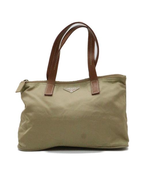 PRADA(プラダ)PRADA (プラダ) ハンドバッグ ブラウン×ベージュ 31の古着・服飾アイテム
