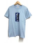 ()の古着「LABEL TEE」|ブルー
