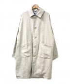 Yarmo(ヤーモ)の古着「リネンダスターコート」 ホワイト