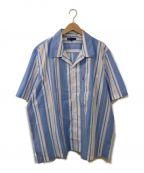 LEVIS MADE&CRAFTED(リーバイス メイドアンドクラフテッド)の古着「オープンカラーストライプシャツ」|スカイブルー×ホワイト