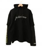 VETEMENTS(ヴェトモン)の古着「Justin 4Ever Double Sleeved Ho」|ブラック