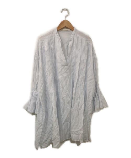 ne quittez pas(ヌキテパ)ne quittez pas (ヌキテパ) スキッパーチュニックブラウス ブルー サイズ:表記なし インド製の古着・服飾アイテム