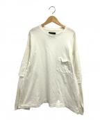 bukht(ブフト)の古着「レイヤードスリーブTシャツ」|ホワイト