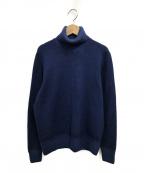 Drumohr(ドルモア)の古着「タートルネックインディゴニットセーター」|インディゴ