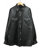 EMODA(エモダ)の古着「エコレザービッグジャケット」|ブラック