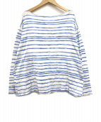 Porter Classic(ポータークラシック)の古着「アーティストボーダーTシャツ」|ホワイト×ブルー