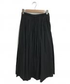 SLOBE IENA()の古着「綿麻ギャザーロングスカート」 ブラック