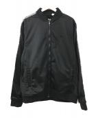 STUSSY AUTHENTIC GEAR(ステューシーオーセンティックギア)の古着「トラックジャケット」 ブラック