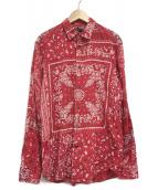 DIESEL(ディーゼル)の古着「バンダナ柄シャツ」|レッド