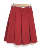 Maison Margiela(メゾンマルジェラ)の古着「プリーツ Aライン ウール スカート」|レッド
