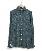 GUY ROVER(ギローバー)の古着「レーヨンシャツ」|ブルー