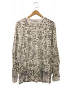 stussy(ステューシー)の古着「バンダナ柄Tシャツ」|ホワイト×ブラック
