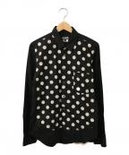 BLACK COMME des GARCONS()の古着「ドットシャツ」|ブラック