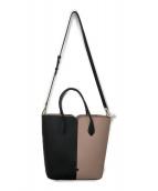 Kate Spade(ケイトスペード)の古着「バイカラー2WAYバッグ」|ピンク×ブラック