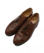 Lloyd footwear(ロイドフットウェア)の古着「Uチップシューズ」|ブラウン