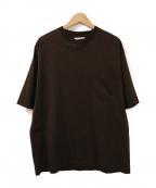 UNFIL(アンフィル)の古着「ビッグシルエットポケットTシャツ」|ブラウン