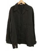()の古着「LINEN GABARDINE OVER SHIRTS」|ブラック