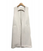 Mila Owen(ミラオーウェン)の古着「後ベルト付ロングベスト」|グレー