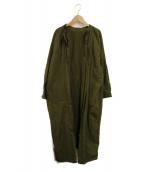 ()の古着「リメイクガウンコート」|グリーン